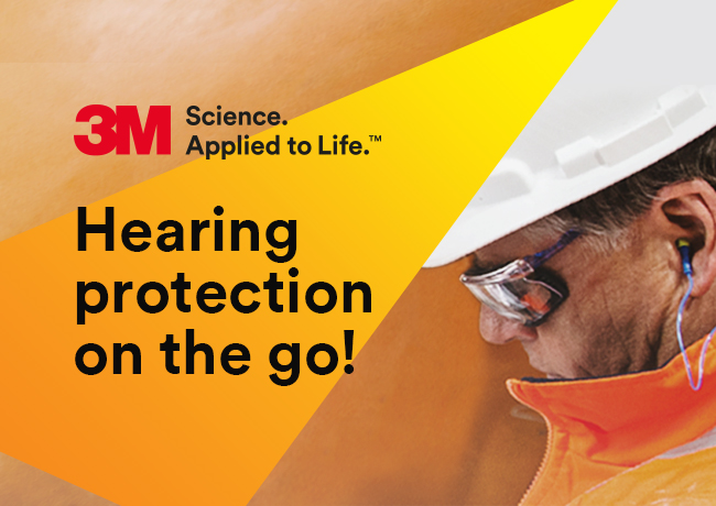 3M hearing protection on the go!