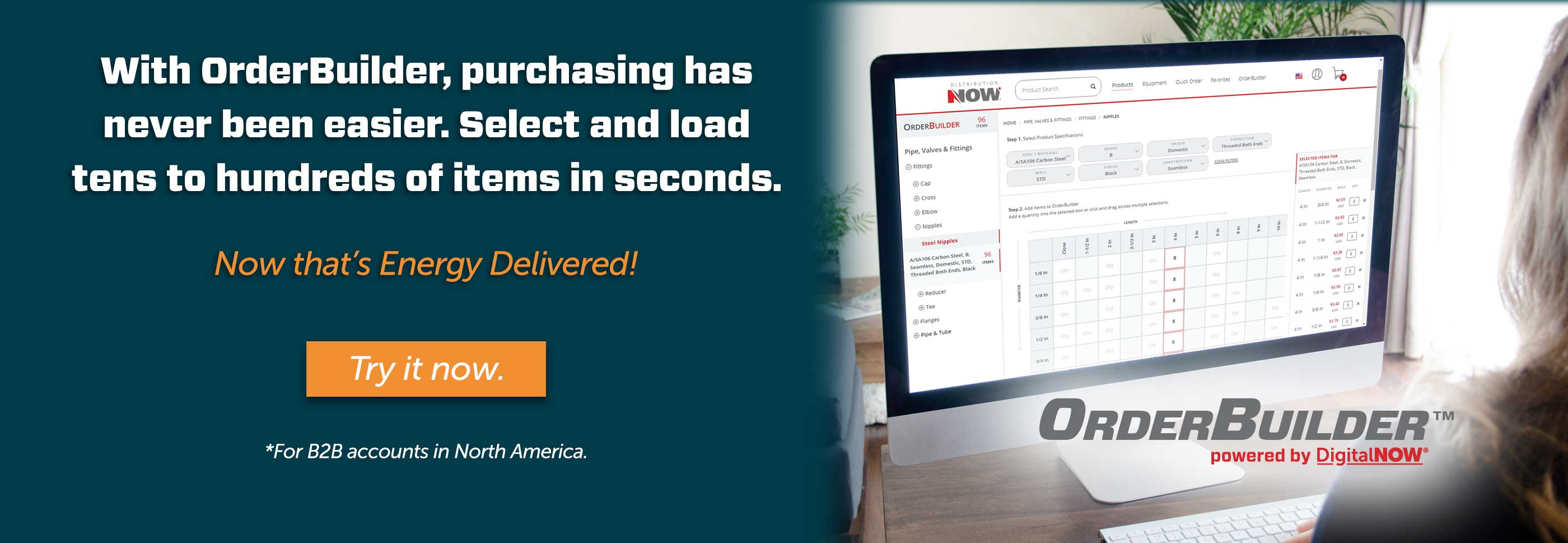 With OrderBuilder, purchasing as never been easier.