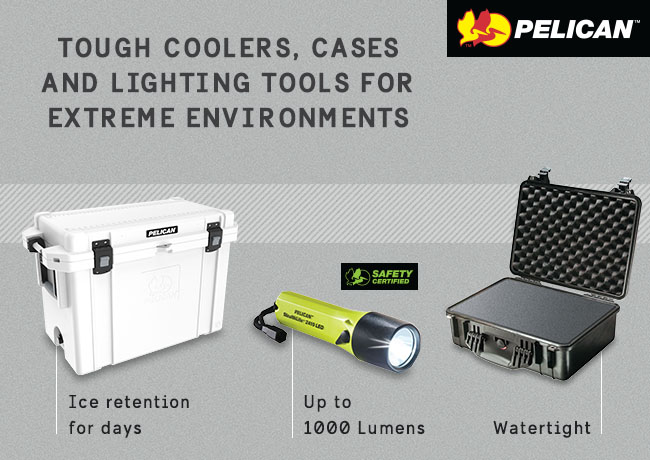 Tough cooler, cases and lighting tools for extreme environments
